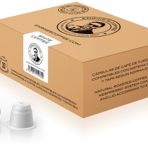 Enrike's Coffee WHITE 10 pieces of our gourmet blend of the best decaffeinated coffee.